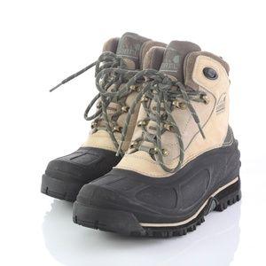 Sorel Tezzeron Beige Black Snow Winter Boots